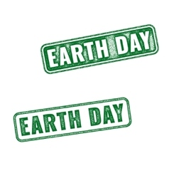 Earth Day grunge rubber stamps isolated on white vector image vector image