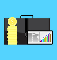 Financial growth in business vector