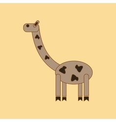 flat icon on background Kids toy giraffe vector image