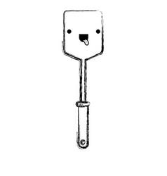 frying square spatula monochrome blurred kawaii vector image vector image