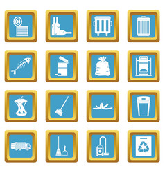 Garbage thing icons azure vector