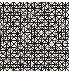 Hand Drawn Line Lattice Seamless Black and vector image