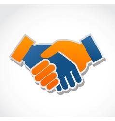 Handshake abstract vector