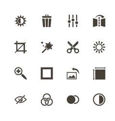 Image editing - flat icons vector