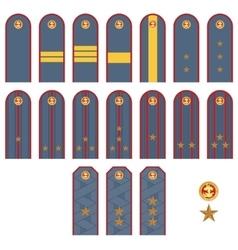 Insignia Russian police vector image