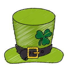 Irish elf hat saint patrick celebration vector