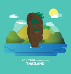 Koh tapu james bond island amazing place in vector
