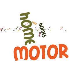 Kw motorhomes text background word cloud concept vector