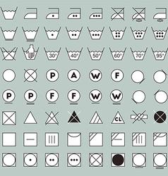 Laundry symbols line design vector image