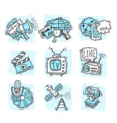 Media Design Concepts vector image