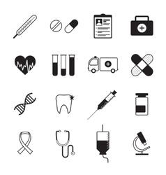 Medicine icons set black vector image vector image