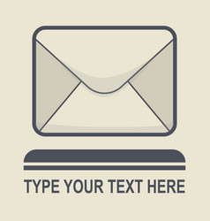 message icon flat design vector image vector image