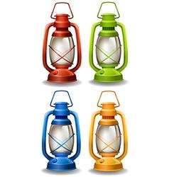 Oil lamp vector image