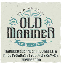 Old mariner vintage poster vector