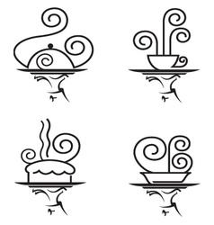 restaurants icon set vector image vector image