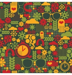 Seamless pattern with watch vector image