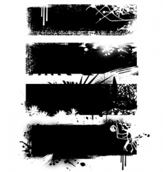 Set of black banners vector