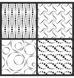 Simple textures backgrounds with dotted elements vector image vector image