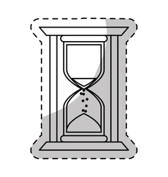 Stop watch and hourglass icon design vector