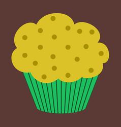 sweet dessert in flat design muffin vector image vector image