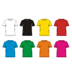t-shirt template colorful vector image vector image