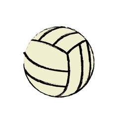 volleyball ball sport competition element vector image vector image