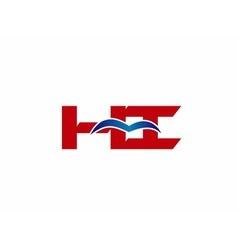 Hi company linked letter logo vector