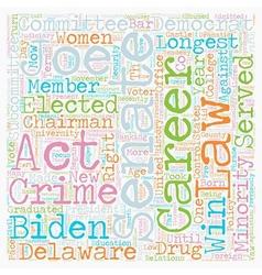 Joe Biden Democrat 1 text background wordcloud vector image