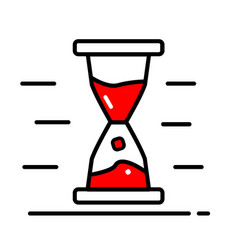 hourglass icon trendy style for graphic vector image