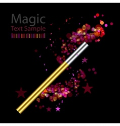 Beautiful magic background with wand vector