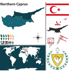 Northern cyprus map vector