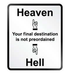 Heaven and hell information sign vector