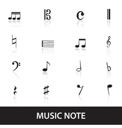 Music note icons eps10 vector