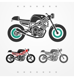 Modern road motorcycle vector