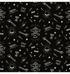 Traditional tattoo biker pattern vector