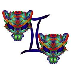 Horoscope Gemini vector image