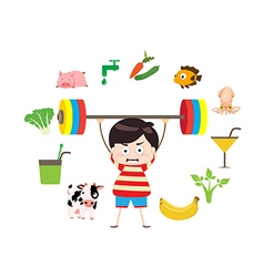 Fitness healthy lifestyles vector