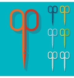 Flat design nail scissors vector