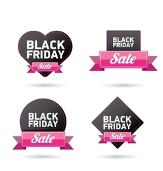 Black friday sales tag vector