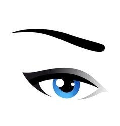 Blue eye icon vector