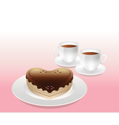 Sweet afternoon tea vector
