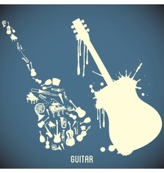 High contrast music instruments vector
