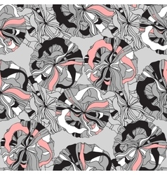 Abstract seamless pattern with retro shapes rings vector