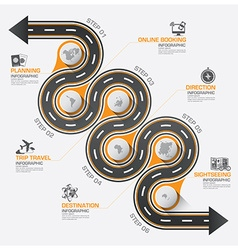 Road and street business travel curve route vector