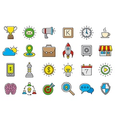 Colorful web icons set vector