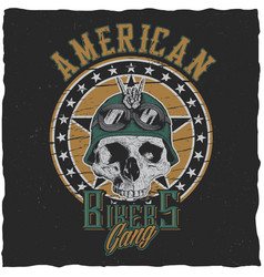 American bikers gang poster vector