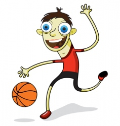 basketball kid vector image