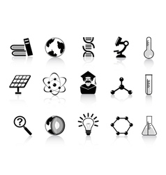black science icons vector image vector image