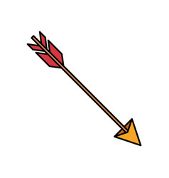Colorful silhouette of hunting arrow vector