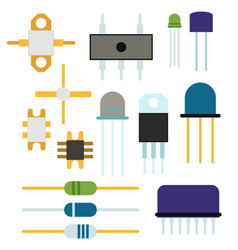 computer chip technology processor circuit vector image